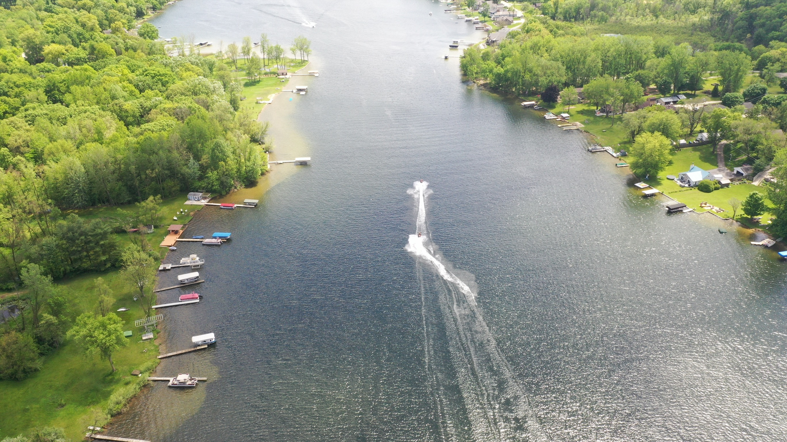 Speed Boats Drone Shot
