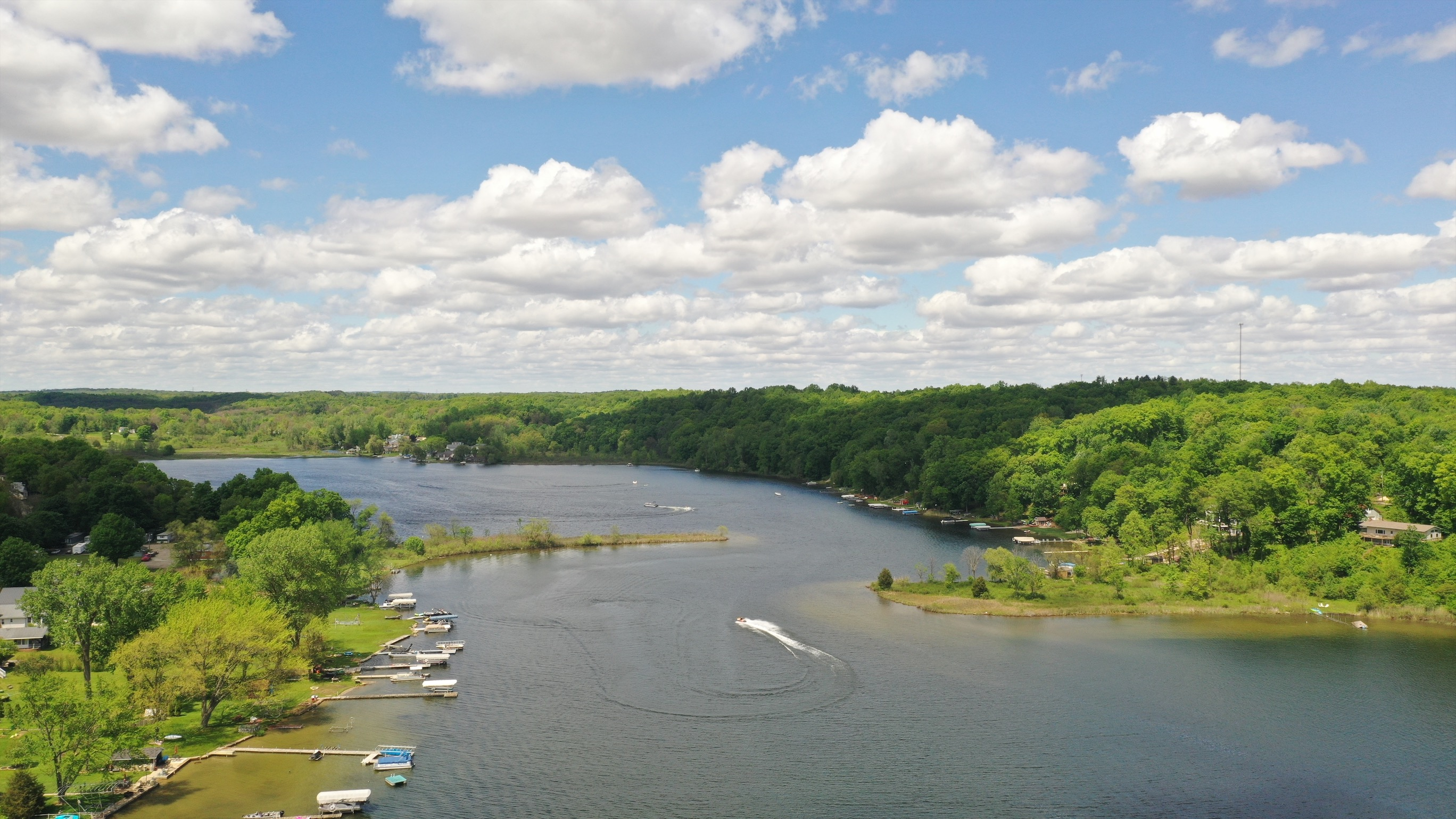 200 foot Lake Drone Shot